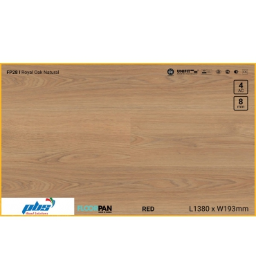 Sàn gỗ Floorpan FP28 Royal Oak Natural - 8mm - AC4