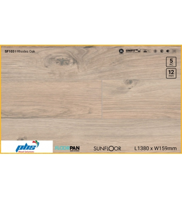 Sàn gỗ Floorpan SF103 Rhodes Oak - 12mm - AC5