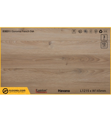Sàn gỗ Lamton D3031 Sonoma French Oak - 12mm - AC3